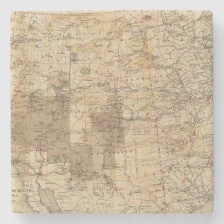 Mapa del progreso 1878 de las encuestas sobre geog posavasos de piedra