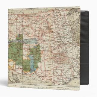 Mapa del progreso 1880 de las encuestas sobre geog