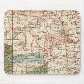Mapa del progreso 1880 de las encuestas sobre geog mousepads