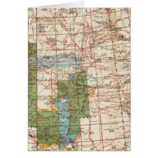 Mapa del progreso 1880 de las encuestas sobre geog tarjeta de felicitación