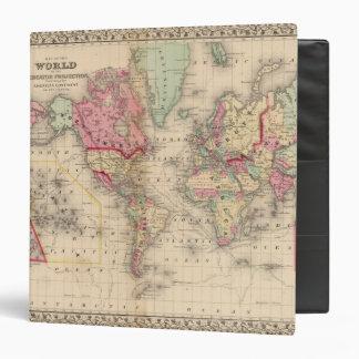 Mapa del proj de Mercator del mundo de Mitchell