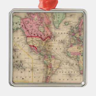 Mapa del proj de Mercator del mundo de Mitchell Ornatos