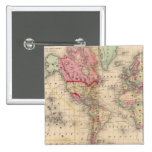 Mapa del proj de Mercator del mundo de Mitchell Pin Cuadrado