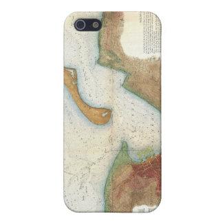 Mapa del puerto de Nantucket del vintage iPhone 5 Carcasa