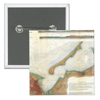 Mapa del puerto de Nantucket del vintage Pins