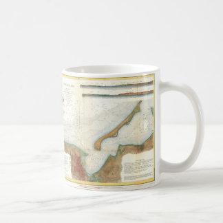 Mapa del puerto de Nantucket del vintage Taza