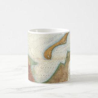 Mapa del puerto de Nantucket del vintage Taza De Café