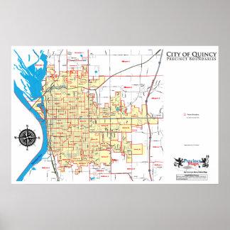 Mapa del recinto de Quincy Impresiones