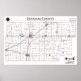 Mapa del recinto del condado de Douglas Posters