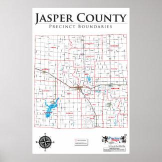 Mapa del recinto del condado de Jasper Posters