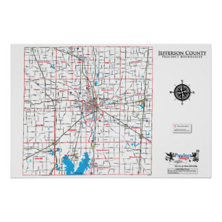 Mapa del recinto del condado de Jefferson Poster