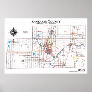 Mapa del recinto del condado de Kankakee Impresiones