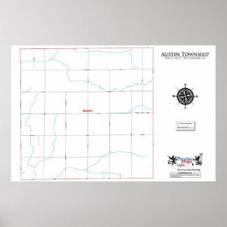 Mapa del recinto del municipio de Austin Posters