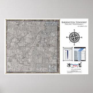 Mapa del recinto del municipio de Barrington (2012 Impresiones