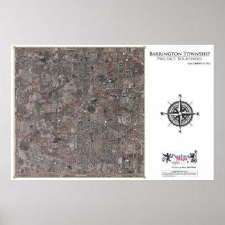 Mapa del recinto del municipio de Barrington (aére Poster