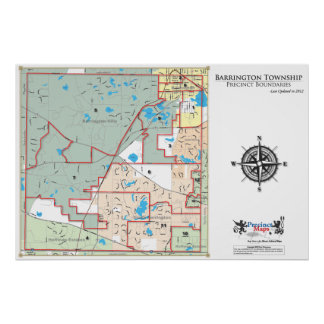Mapa del recinto del municipio de Barrington Impresiones