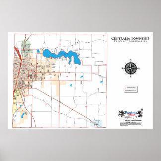 Mapa del recinto del municipio de Centralia Impresiones