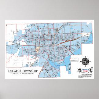 Mapa del recinto del municipio de Decatur Impresiones