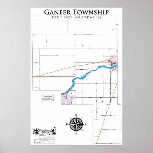 Mapa del recinto del municipio de Ganeer Impresiones
