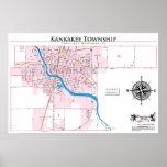 Mapa del recinto del municipio de Kankakee Impresiones