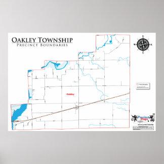 Mapa del recinto del municipio de Oakley Posters