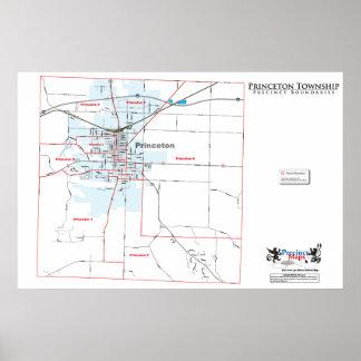 Mapa del recinto del municipio de Princeton Impresiones