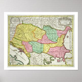 Mapa del reino de Hungría y de los estados que Impresiones