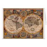 Mapa del renacimiento del mundo felicitacion