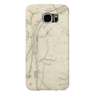 Mapa del río Detroit Funda Samsung Galaxy S6