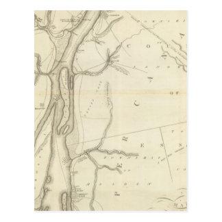 Mapa del río Detroit Postal