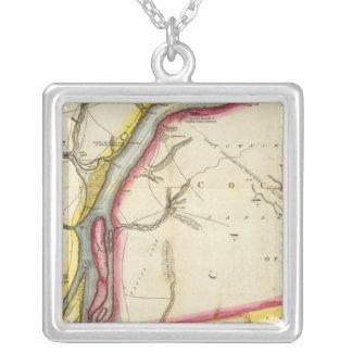 Mapa del río Detroit y del país adyacente Collar