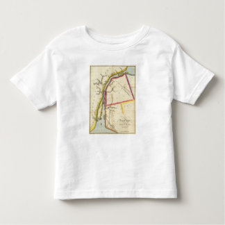 Mapa del río Detroit y del país adyacente Playera De Bebé