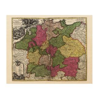 Mapa del Romano-Germanicum del Imperium de Juan Cuadros De Madera