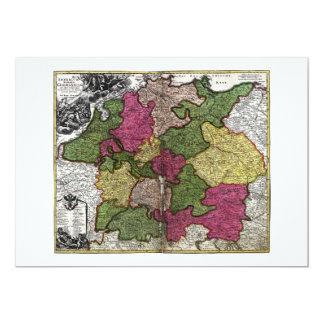 """Mapa del Romano-Germanicum del Imperium de Juan Invitación 5"""" X 7"""""""