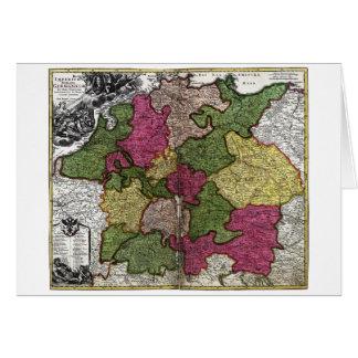 Mapa del Romano-Germanicum del Imperium de Juan Tarjeta De Felicitación