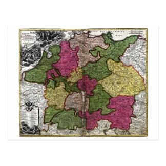 Mapa del Romano-Germanicum del Imperium de Juan Tarjetas Postales