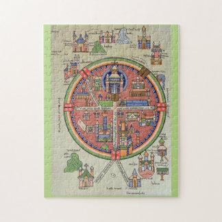Mapa del rompecabezas de Jerusalén