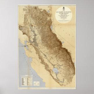 Mapa del San Joaquín Poster