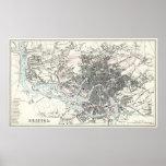 Mapa del siglo XIX antiguo de Bristol Impresiones