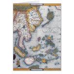 Mapa del siglo XVI de Asia sudoriental y de Indone Tarjeton