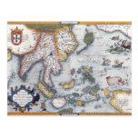 Mapa del siglo XVI de Asia sudoriental y de Tarjeta Postal