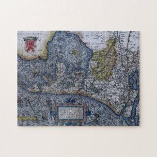 Mapa del siglo XVI de Holanda Puzzle