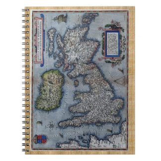 Mapa del siglo XVI de Inglaterra Libretas