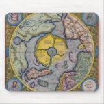 Mapa del siglo XVI de Mercator Polo Norte Alfombrilla De Raton