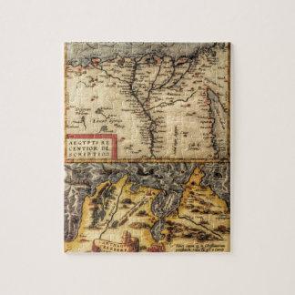 Mapa del siglo XVI de Túnez y de Egipto Puzzles