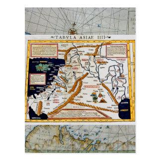 Mapa del siglo XVI del vintage del Oriente Medio Postal