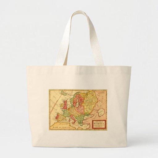 Mapa del siglo XVII antiguo del Moll de Herman de  Bolsas De Mano