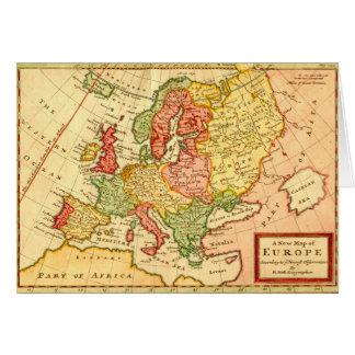 Mapa del siglo XVII antiguo del Moll de Herman de  Tarjeta De Felicitación