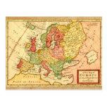 Mapa del siglo XVII antiguo del Moll de Herman de  Tarjeta Postal