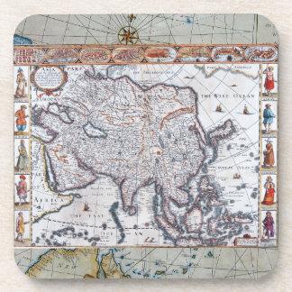 Mapa del siglo XVII de Asia Posavasos De Bebidas